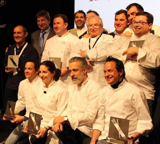 Los chefs distinguidos con el premio 'Exportando España'. Foto: A. González