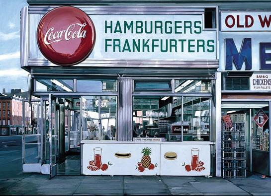 Una de las obras gastronómicas del Museo Thyssen, del pintor americano Richard Estes.