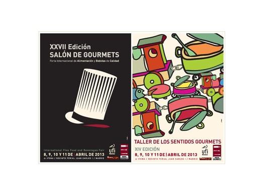 Cartel del Salón de Gourmets 2013 y del Taller de los Sentidos