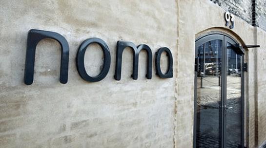 Entrada del restaurante Noma, en Copenhague