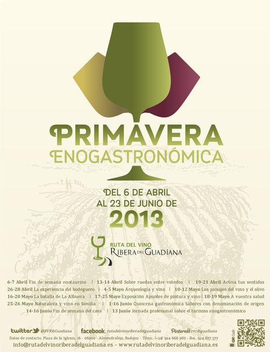 Cartel de la Primavera Enogastronómica extremeña