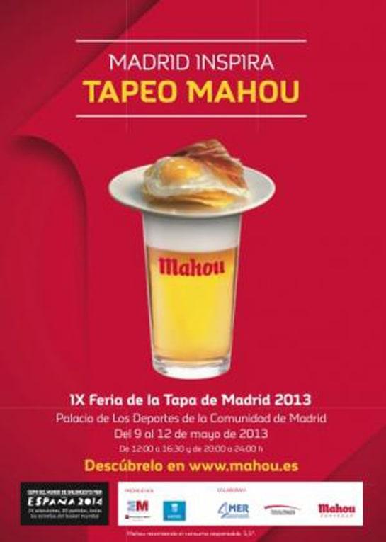 Cartel de la IX Feria de la Tapa de Madrid, Tapeo Mahou