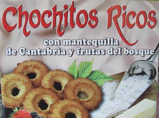 Los chochitos ricos son unas deliciosas pastas que se venden en las pastelerías de Cantabria
