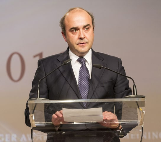 Félix Solís, en su discurso de agradecimiento tras recibir el premio. /Ag