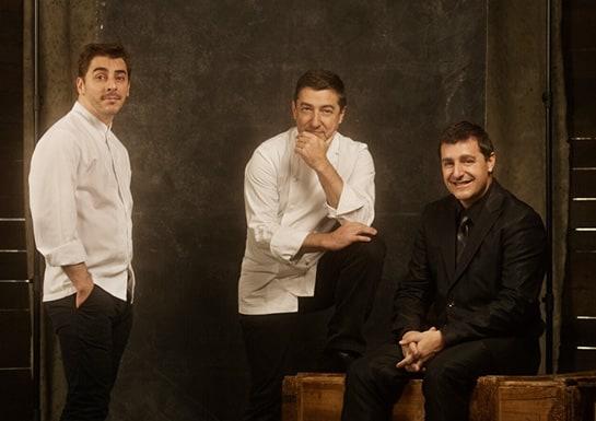 Los tres hermanos Roca, en una imagen de la web de su restaurante.