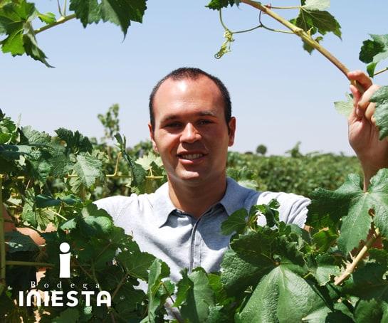 Andrés Iniesta, en los viñedos de su bodega, en Fuentealbilla (Albacete)