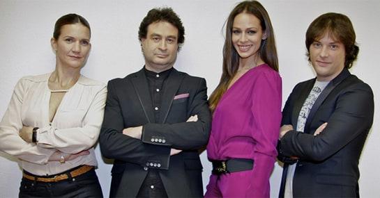 El jurado de Masterchef junto con la presentadora, Eva González, segunda por la derecha. /rtve.es