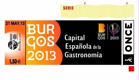 Cupón conmemorativo de la   Capital Gastronómica 2013