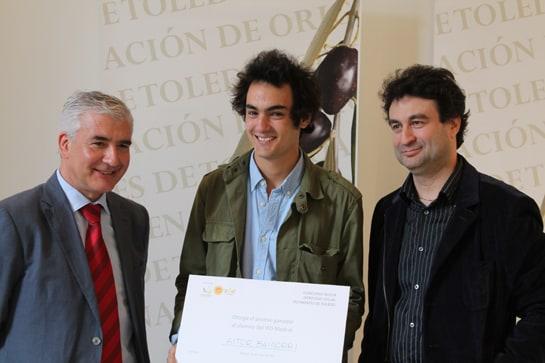 El alumno ganador, junto al chef Pepe Rodríguez y Enrique García-Tenorio / JC Morales