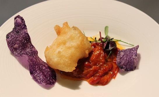 El taco de bacalao con tempura