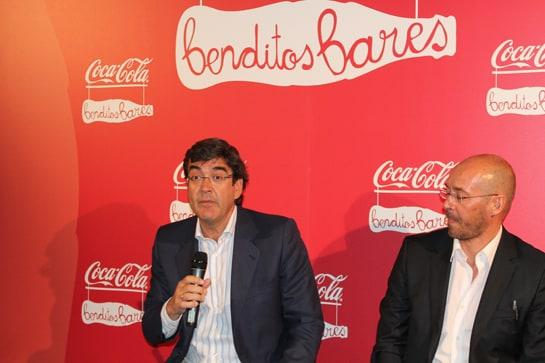 Los dirigentes de Coca-Cola Iberia, durante la presentación de la campaña