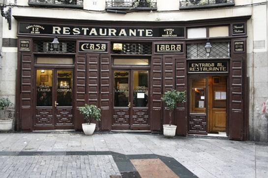 Restaurantes centenarios de madrid tradici n y buen gusto - Fachadas de bares modernos ...