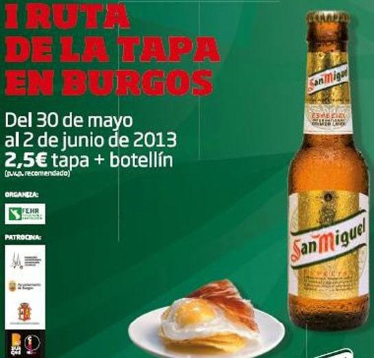 Cartel de la I Ruta de la Tapa de Burgos