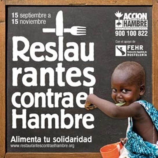 Cartel de la campaña solidaria 'Restaurantes contra el Hambre'