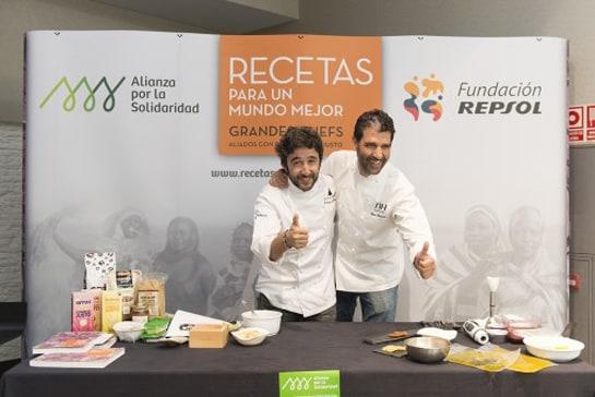 """Diego Guerrero y Paco Roncero, dos de los chefs participantes en """"Recetas para un mundo mejor"""""""