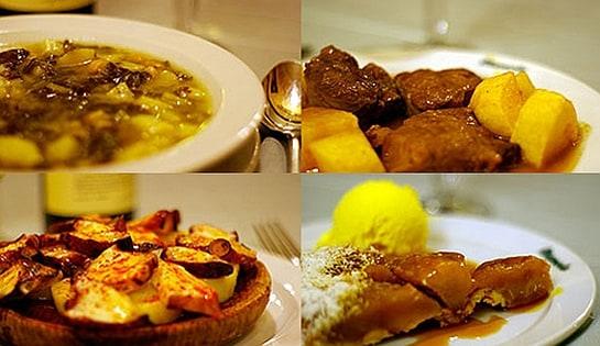 Algunas de las propuestas del Restaurante Manolo.