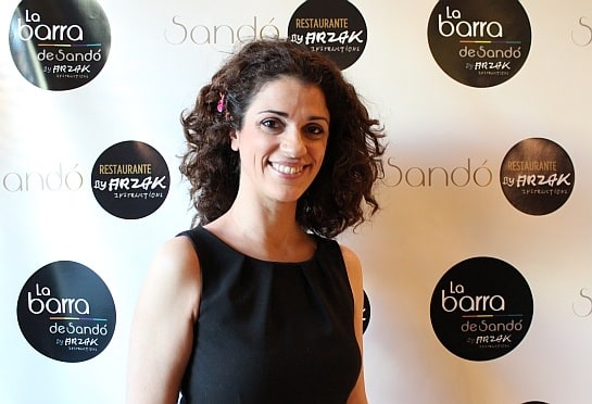 La actriz Ruth Gabriel, en el restaurante Sandó by Arzak / Foto: A. González