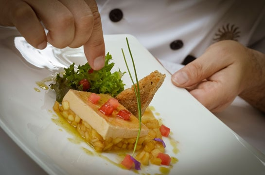 Detalle del plato preparado por el chef Óscar Palacio. /Ag