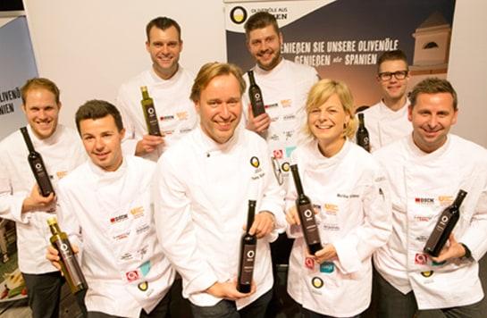 El chef Thomas Bühner, junto con otros cocineros alemanes. /Melanie Bauer Photodesign