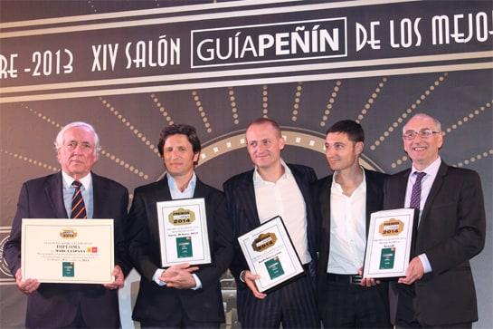 Los premiados por la Guía Peñín 2014. /Ag