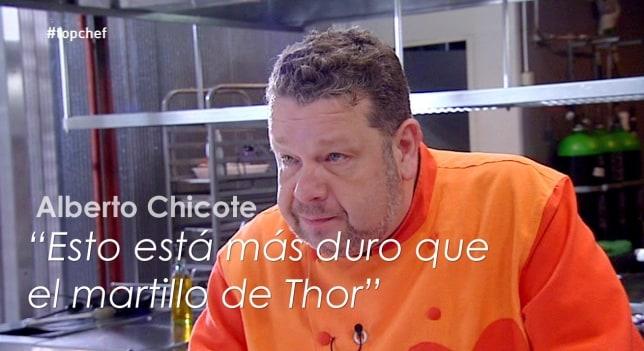 Alberto Chicote y una de sus ingeniosas frases en el primer Top Chef. /Antena3.com