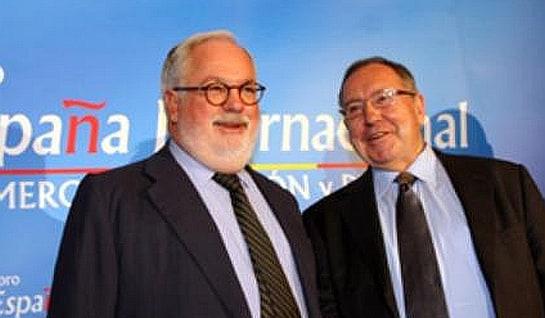 De izquierda a derecha, el ministro Miguel Arias Cañete y José Luis Bonet / Foto: Nueva Economía Forum
