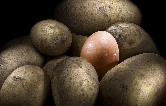 patatas huevo