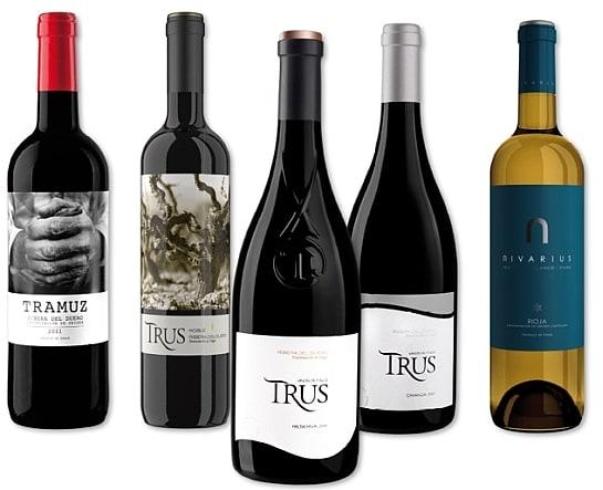 Los vinos de TRUS y Niverius / Foto: Palacios Vinoteca