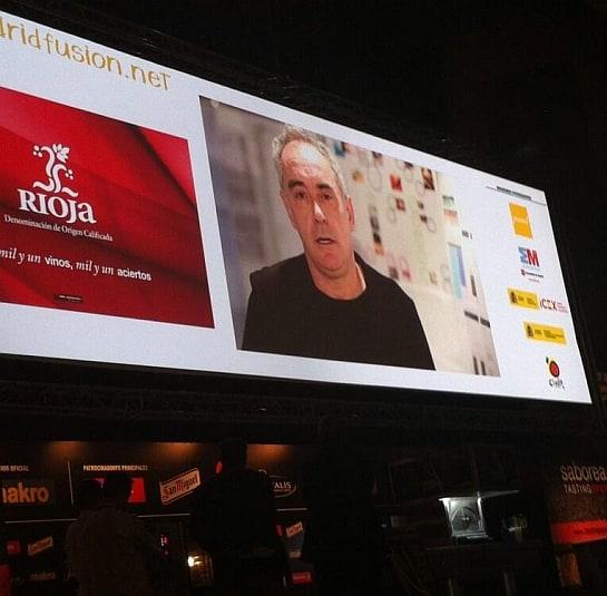 Vídeo de Bullipedia presentado este miércoles en Madrid Fusión / Foto: Madrid Fusión