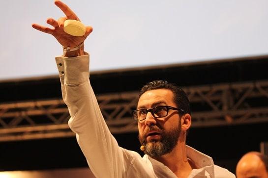 Quique Dacosta, durante su exhibición en Madrid Fusión / Fotos: A. G. Gil-García