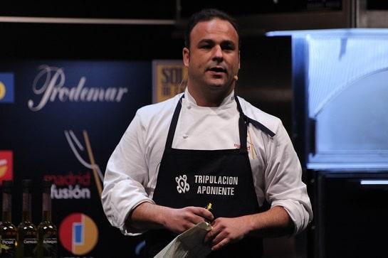 Ángel León, durante su ponencia de este martes en Madrid Fusión / Foto: A. G. Gil-García