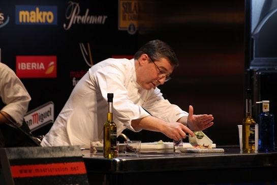 El chef Joan Roca, durante su ponencia en Madrid Fusión / Foto: A. G. Gil-García