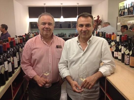 Miguel Prohens, socios y dueños de la enoteca Barolo / Foto: L. Prieto