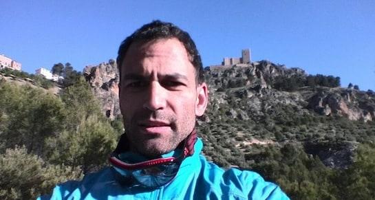 Darío Barrio, tras practicar un salto el pasado 26 de mayo, en una imagen extraída de su cuenta de Twitter.