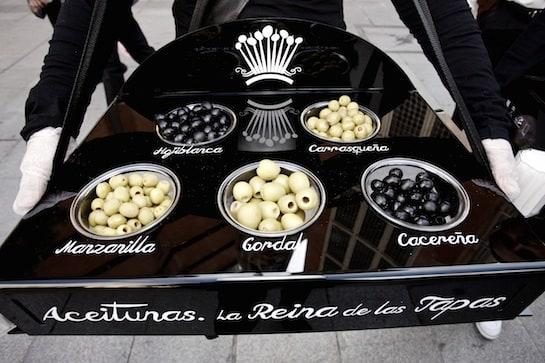 Las distintas variedades de aceitunas de mesa.