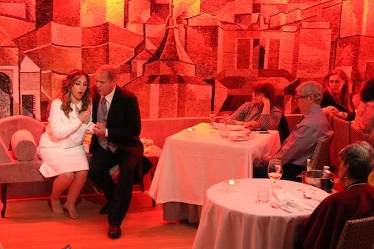 La soprano Graciela Armendáriz y el tenor Luis Enrique Jimeno, en un momento de su actuación. / Foto: L. Prieto