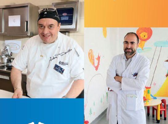 Tumbarello y el doctor Carabaño, en uno de los folletos de 'pequerrecetas'